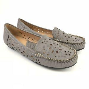 Patrizia Cosette Womens 9.5 Slip On Loafers Gray